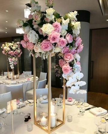 floreros para centro de mesa de bodas