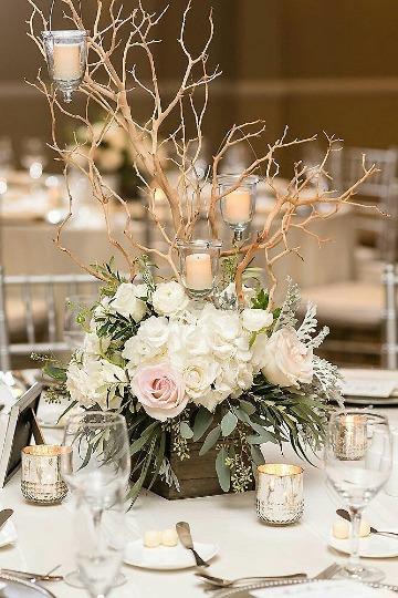 floreros para centro de mesa rustico