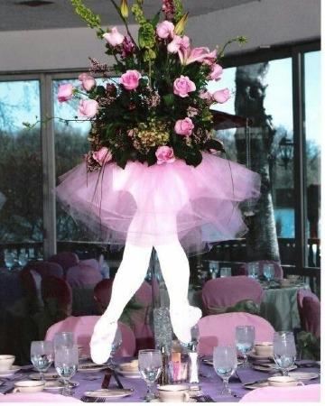ideas de centro de mesa de bailarina