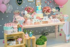 Grandiosos decorados en mesa de postres baby shower