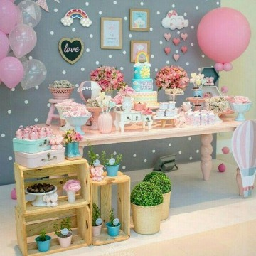 ideas de mesa de postres baby shower