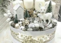 Ideas geniales en centros de mesa navideños con velas 2018