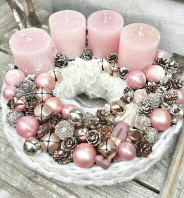 velas para centro de mesa en navidad