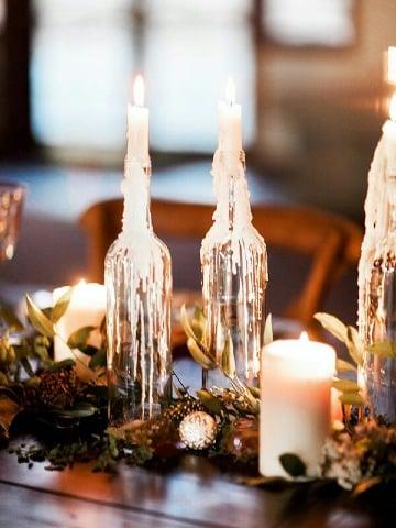 velas para centro de mesa navideño
