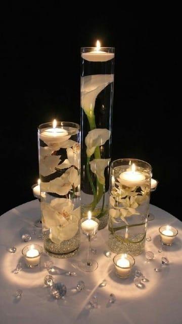 velas para centro de mesa para bodas