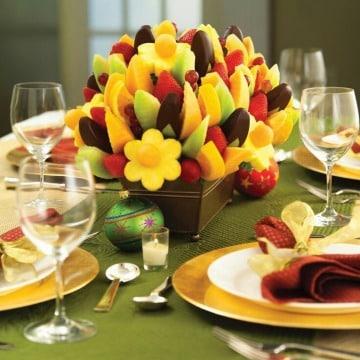 arreglos de mesa con frutas para decoracion