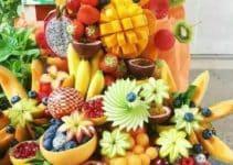 Curiosos arreglos de mesa con frutas para fiestas 2019