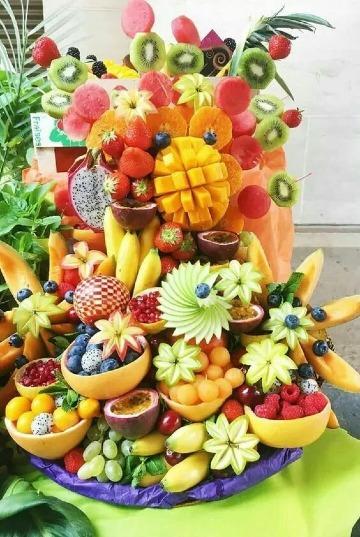 Curiosos arreglos de mesa con frutas para fiestas 2019 Centros de Mesa para Bautizos -> Decoração De Frutas Para Mesa