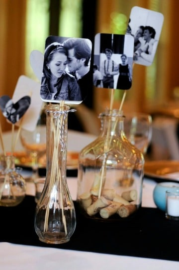centro de mesa con fotos faciles