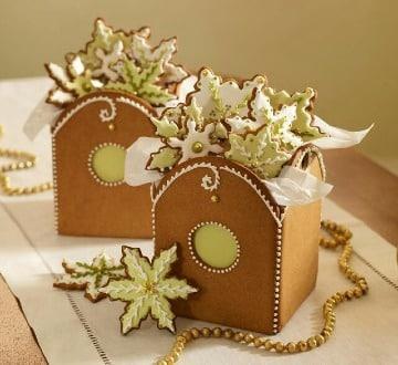 centros de mesa con galletas navideñas