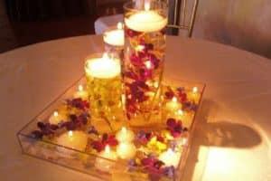 Centros de mesa para cena para 14 de febrero u aniversario