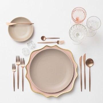 fotos de como poner una mesa elegante