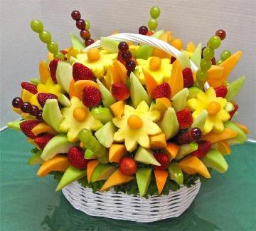 imagenes de arreglos de mesa con frutas