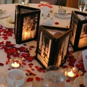 imagenes de centro de mesa con fotos