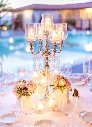 candelabros para centros de mesa de bodas