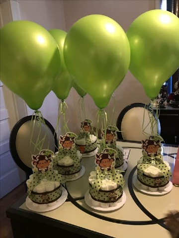 centro de mesa de animalitos para baby shower