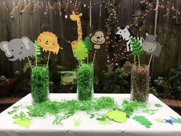 centro de mesa de animalitos para cumpleaños