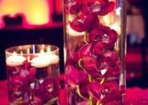Elegantes centros de mesa color vino para 24 diciembre