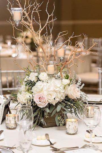 centros de mesa con plantas para bodas