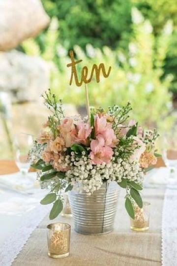 centros de mesa con plantas para fiestas