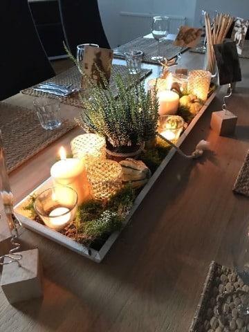 centros de mesa para comedor con velas