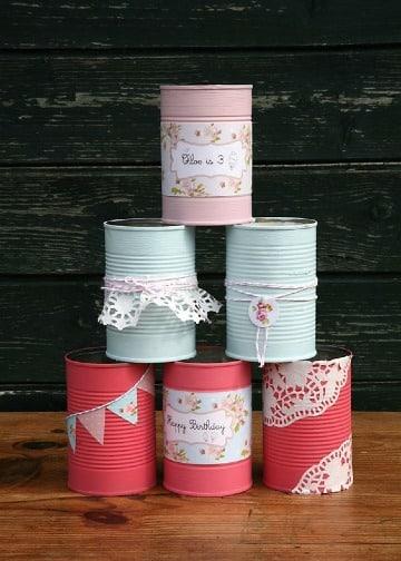 como hacer latas de leche decoradas