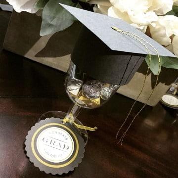 fotos de copas decoradas para graduacion