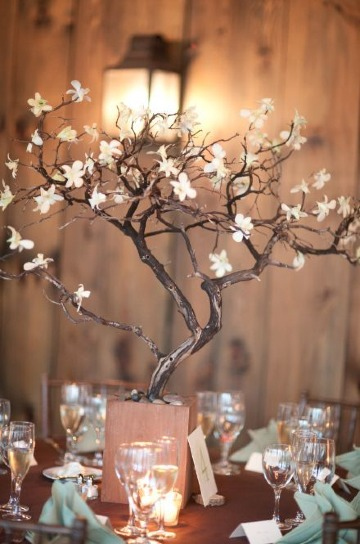 imagenes de centros de mesa con ramas secas