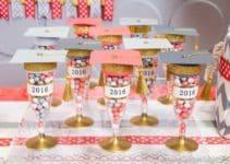 Copas decoradas para graduacion de 6o y otros grados