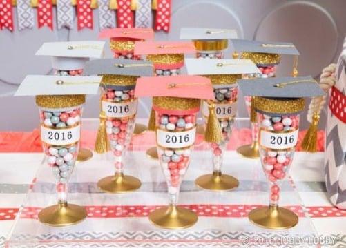 imagenes de copas decoradas para graduacion