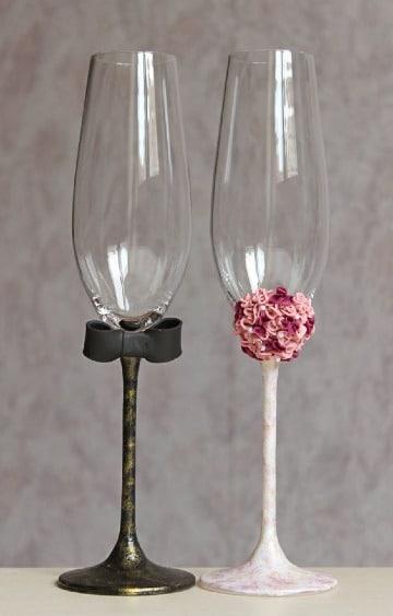 imagenes de copas decoradas para novios