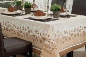 Ideas en diseños de manteles para mesa rectangular 2019