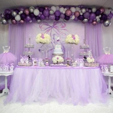 mesas decoradas para fiestas de 15 años