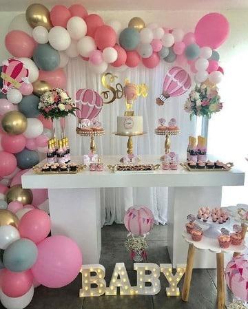 mesas decoradas para fiestas de bebe