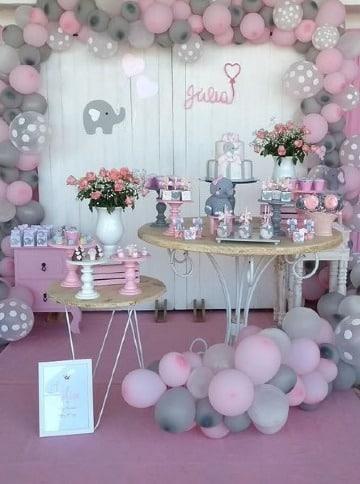 mesas decoradas para fiestas de niña