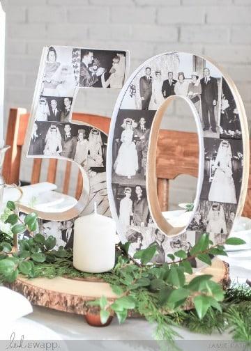 modelos de centros de mesa para bodas de oro