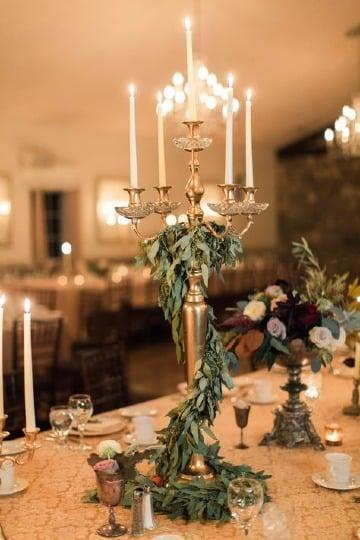 originales candelabros para centros de mesa