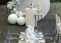 Arreglos con globos para bautizo y fiestas de 3 años