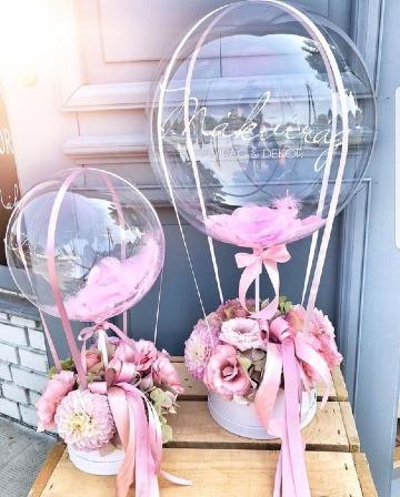 arreglos con globos para boda 2019
