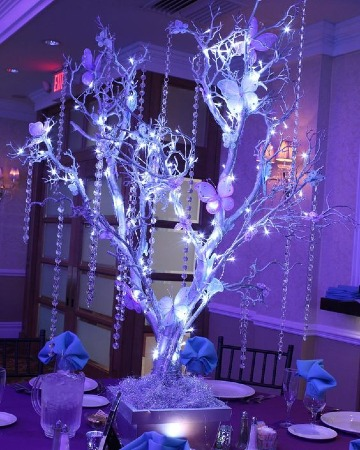 centros de mesa iluminados elegantes