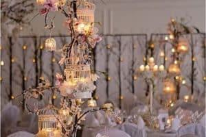 Hermosos centros de mesa iluminados para 15 años o bodas