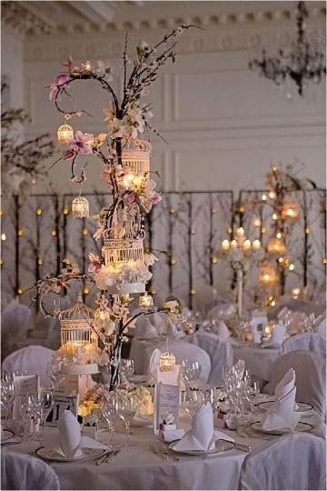 centros de mesa iluminados para bodas