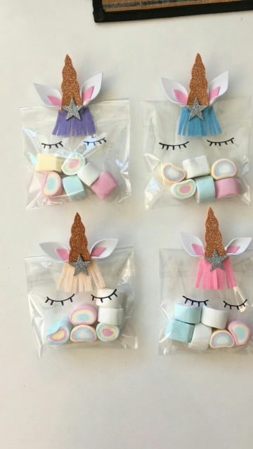 como hacer bolsitas de dulces para niños