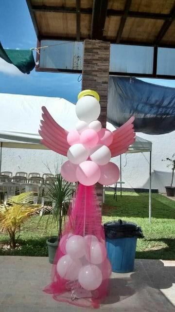 globos de helio para bautizo de niña