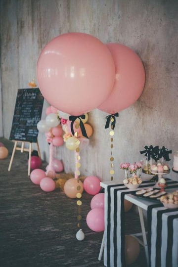 globos gigantes decorados para baby shower
