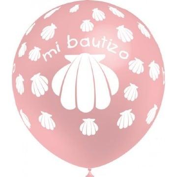 globos personalizados para bautizo de niña