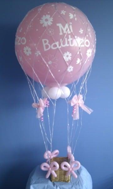 ideas de globos personalizados para bautizo