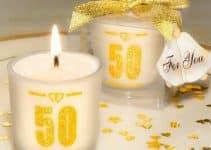 Elegantes recuerdos para bodas de oro y 50 años