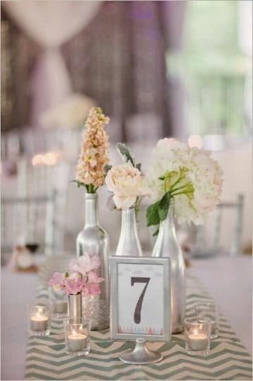 imagenes de centros de mesa con numeros