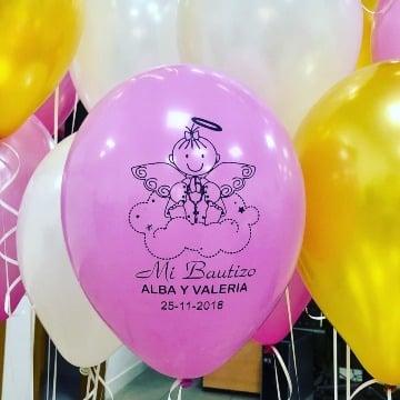 imagenes de globos personalizados para bautizo